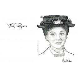 TARJETA POSTCARD MARY POPPINS