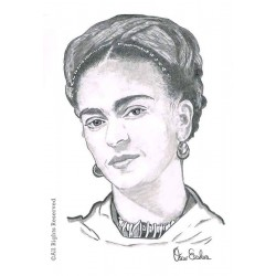 CARBONCILLO FRIDA KAHLO