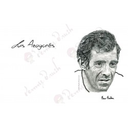 TARJETA POSTCARD LUIS ARAGONÉS