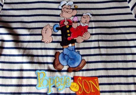 Mónica Escalera: Camiseta Popeye & Son