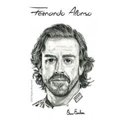 TARJETA POSTCARD FERNANDO ALONSO