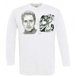 CAMISETA MANGA LARGA LEMANS Y PAUL NEWMAN