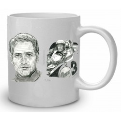 TAZA LEMANS Y PAUL NEWMAN
