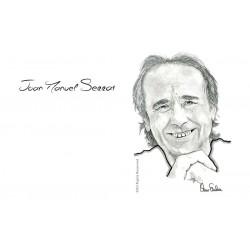 TARJETA POSTCARD JOAN MANUEL SERRAT